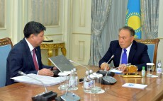 The meeting with the Attorney General Zhakip Asanov