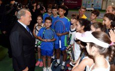 "Visiting ""Tennis Centre"" sports complex"