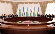 Negotiations with Shavkat Mirziyoyev, President of the Republic of Uzbekistan